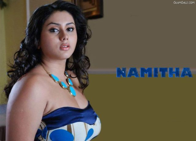 Click to Enlarge - Tollywood Beauty Namitha Wallpapers