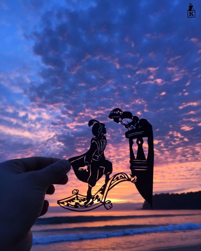 Artist Makes Paper Artworks During His Trip To India