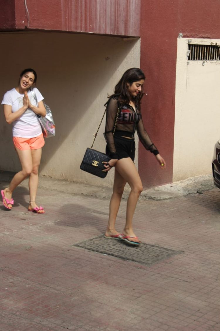 Janhvi Kapoor & Sara Ali Khan Spotted Together At Pilates Gym