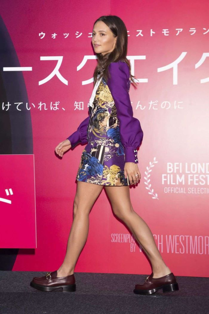 Alicia Vikander At The 'Earthquake Bird' Press Conference In Tokyo