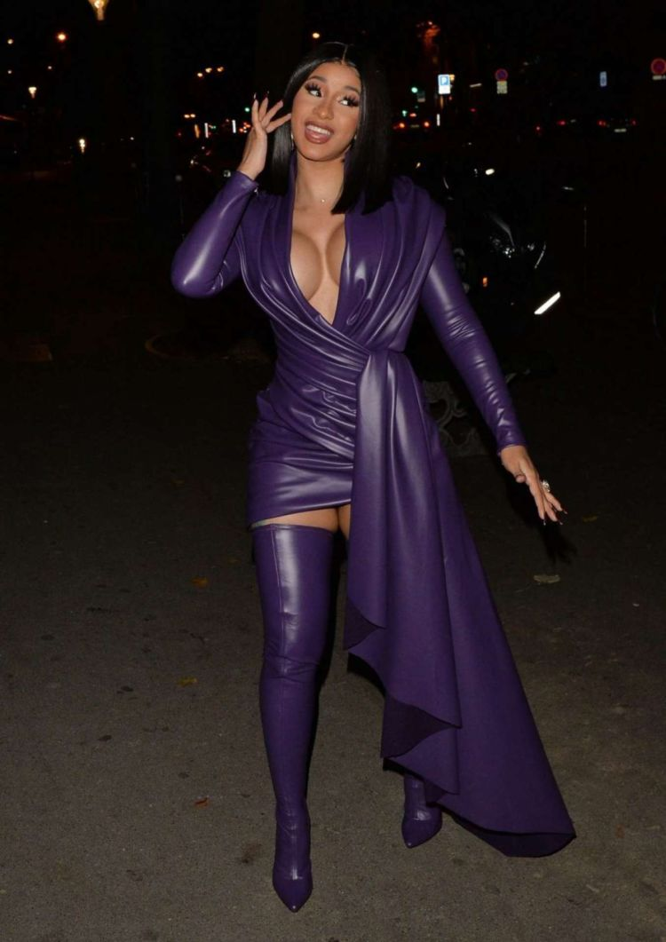 Cardi B Spotted Out For An Evening Party In Paris'