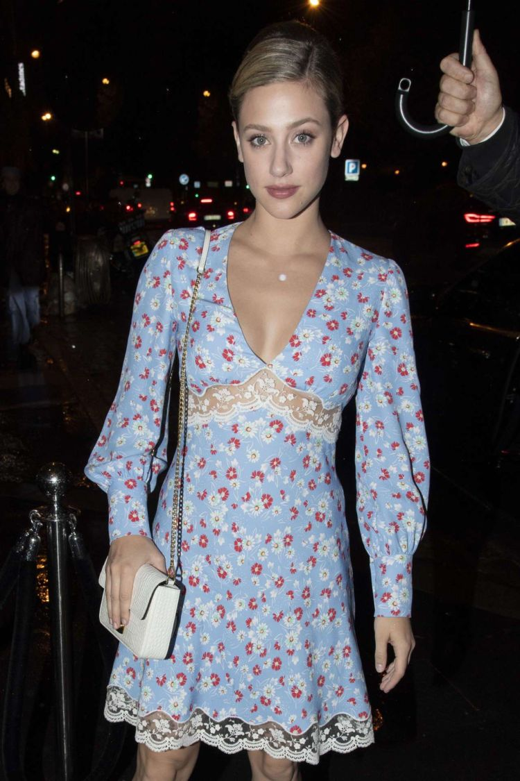 Pretty Lili Reinhart Spotted At The Miu Miu AfterParty Dinner