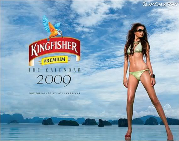 Click to Enlarge - Making of Kingfisher Calender 2009