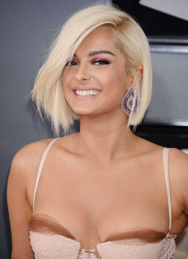 Dazzling Bebe Rexha At The 60th Annual GRAMMY Awards
