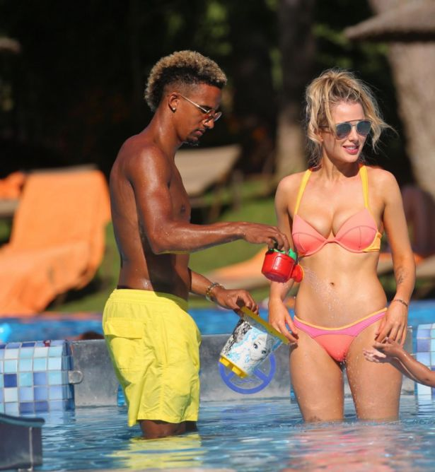 Helen Flanagan At The Poolside In Majorca