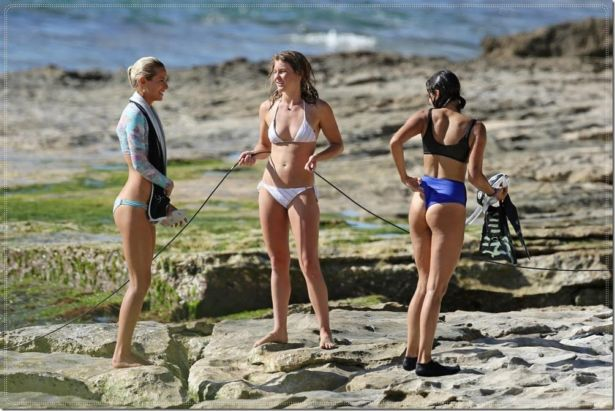 Nina Dobrev Shooting A Documentary In Hawaii